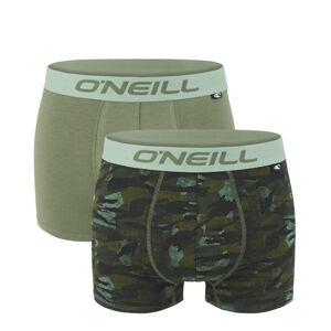 O'NEILL - 2PACK olive camouflage boxerky z organickej bavlny-L (89 - 95 cm)