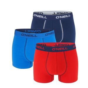 O'NEILL - 3PACK red & blue navy boxerky z organickej bavlny-L (89 - 95 cm)