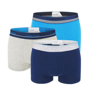 CALVIN KLEIN - 3PACK highlighted blue waistband boxerky - special limited edition-XL (101-106 cm)