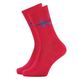 CALVIN KLEIN - CK jeans logo červené ponožky-UNI
