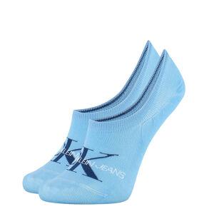 CALVIN KLEIN - CK jeans logo neviditeľné ponožky modré-UNI