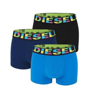 DIESEL - 3PACK cotton stretch color waistband boxerky - limitovaná edícia -L (84-89 cm)