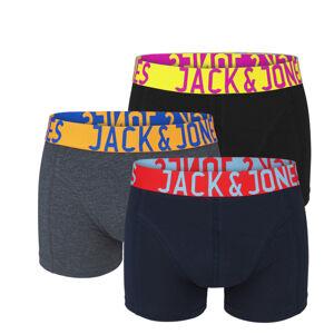 JACK & JONES - 3PACK color boxerky z organickej bavlny s farebným pásom-L (86-92 cm)