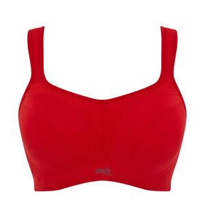 PANACHE - červená športová podprsenka s výstužou a kosticami-80DD