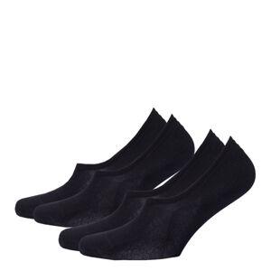 TOMMY HILFIGER - 2PACK čierne neviditeľné ponožky-43-46