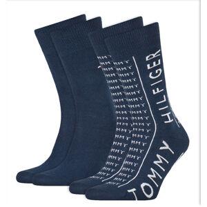 TOMMY HILFIGER - 2PACK Tommy original TH logo ponožky-39-42